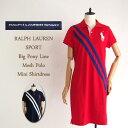 ラルフローレン 【SALE】ラルフローレン レディース ビッグポニー ラインストライプ ポロワンピースRalph Lauren BIGPONY Polo Shirts Dresses