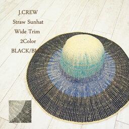 ジェイクルー ジェイクルー レディース ワイドトリム グラデーション ペーパーストローハット J.CREW Wide Trim Paper Straw Hat