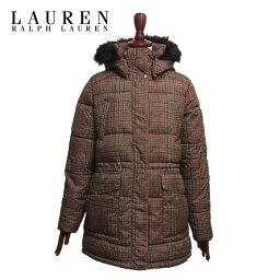 ラルフローレン コート レディース ラルフローレン ローレン レディース チェック 中綿 キルティング コート ジャケット/ブラウンLAUREN Ralph Lauren Coat