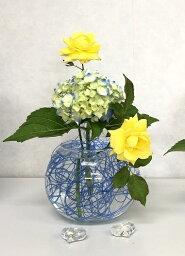 グラス 花留め 花器(L)とセット フラワーアレンジメント ねっこねっと オアシス 生け花 花材 一輪差し 一輪挿し 剣山 フラワーベース 花器 花瓶 華道具