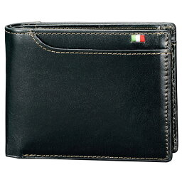 ミラグロ 二つ折り財布(小銭入れあり)・ボックス型 box型小銭入れ 21ポケット イタリア製ヌメ革 ネイビー 牛革 本革 ウォレット メンズ 財布  財布 ブランド Milagro