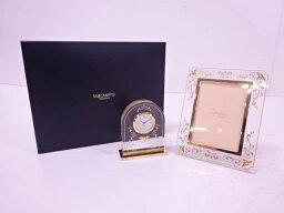 ミキモト 置き時計 MIKIMOTO フォトフレーム&置き時計セット