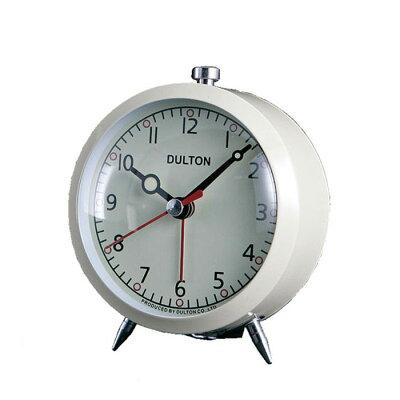 【 DULTON ALARM CLOCK IVORY 100-053Q/IV 】 目覚まし時計 置時計 置き時計 おしゃれ シンプル ダルトン アラームクロック アイボリー