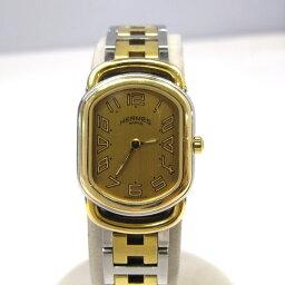 エルメス ラリー 腕時計(レディース) HERMES エルメス 腕時計 ラリー ウォッチ Ref.RA1.240 レディース ゴールド色 シルバー色 スイス製 クォーツ 三国ヶ丘店 885266 【USED】