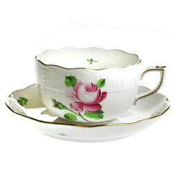 ヘレンド 【送料無料祭】ヘレンド (HEREND) RB 薔薇と蕾 ティーカップ&ソーサー 724【あす楽対応】
