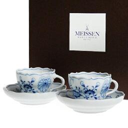 マイセン マイセン (Meissen) ブルーオニオン コーヒーカップ&ソーサー ペア c0004