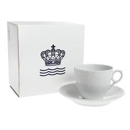 ロイヤルコペンハーゲン カップ 【決算SALE限定】ロイヤルコペンハーゲン ホワイトハーフレース コーヒーカップ&ソーサー[L] 128-071