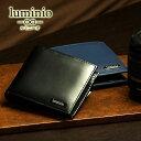 コードバン 財布(メンズ) 折財布 メンズ luminio ルミニーオ 二つ折り財布 コードバン 馬革×牛革 fc-1509 2019 彼氏 男性向け