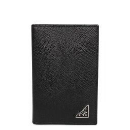 プラダ 定期入れ PRADA SAFFIANO TRIANGOLO プラダ パスケース カードケース ID 定期入れ サフィアーノ メンズ ブラック 黒 2MC101-QHH