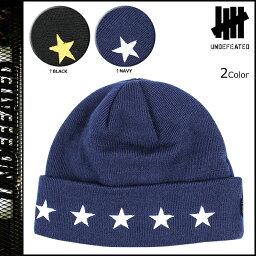 アンディフィーテッド アンディフィーテッド UNDEFEATED ニットキャップ ビーニー ニット帽 帽子 ブラック 5 STAR CUFF BEANIE メンズ