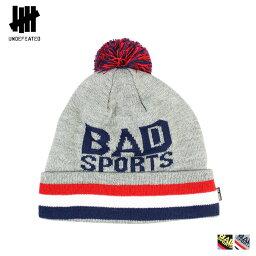 アンディフィーテッド アンディフィーテッド UNDEFEATED ニットキャップ ビーニー ニット帽 帽子 2カラー BAD SPORTS POM BEANIE メンズ