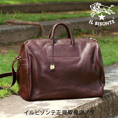 【イルビゾンテ IL BISONTE バッグ】ボストンバッグ[商品番号_5432400215]【送料無料】【バッグ トートバッグ】