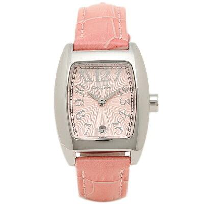 フォリフォリ 時計 レディース 腕時計 24ミリ ピンク レザー シルバーケース ピンク文字盤 S922 Pink Pink ビジネス 女性 ブランド 時計 誕生日 お祝い プレゼント ギフト お洒落