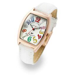 ミッシェルジョルダン ミッシェルジョルダン レディース 腕時計 ローズゴールドケース 白 ホワイト レザー ダイヤモンド カラフル トノー型 革 SL-1100-5 彼女 奥さん 嫁 妻 姪っ子 女友達 誕生日 お祝い ギフト