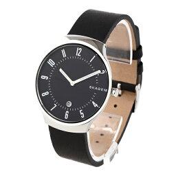 スカーゲン 腕時計(メンズ) 【キャッシュレス5%還元】スカーゲン 時計 メンズ 腕時計 GRENEN グレーネン シルバーケース ブラック レザー SKW6459 ビジネス 男性 ブランド 誕生日 お祝い プレゼント ギフト