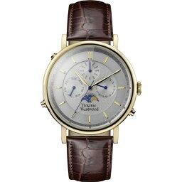 ヴィヴィアンウエストウッド ヴィヴィアン ウエストウッド 時計 メンズ 腕時計 ゴールド ダークブラウン レザー VV164CHBR ビジネス 男性 ブランド 誕生日 お祝い クリスマスプレゼント ギフト お洒落