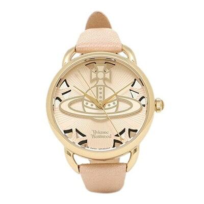 ヴィヴィアン ウエストウッド 時計 レディース 腕時計 ゴールド ピンクベージュ レザー VV163BGPK ビジネス 女性 ブランド 時計 誕生日 お祝い プレゼント ギフト お洒落