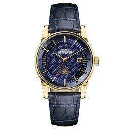 ヴィヴィアンウエストウッド 新作 ヴィヴィアン ウエストウッド 時計 メンズ 腕時計 Finsbury ダークブルー レザー VV065BLBL ビジネス 男性 ブランド 誕生日 お祝い プレゼント ギフト