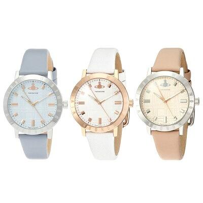 選べる3カラー ヴィヴィアンウエストウッド レディース 腕時計 水色 ピンク 白 レザーウォッチ VV152 ビジネス 女性 ブランド 時計 誕生日 お祝い プレゼント ギフト お洒落