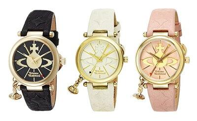 ヴィヴィアン ウエストウッド 腕時計 レディース 可愛いオーブチャーム付 レザーウォッチ VV006 選べる3カラー ビジネス 女性 ブランド 時計 誕生日 お祝い プレゼント ギフト お洒落