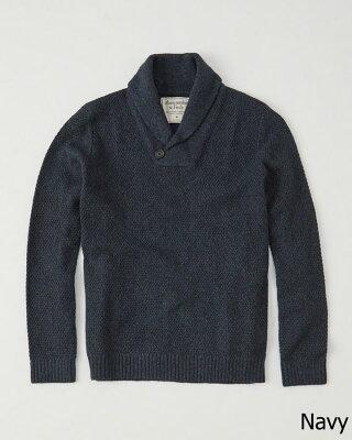 【新品】アバクロ【Mensメンズ】ショールカラーセーター/Navy【Shawl Collar Pullover 】【Abercrombie&Fitch】【本物保証】