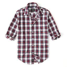アバクロンビー&フィッチ Abercrombie&Fitch (アバクロンビー&フィッチ) ストレッチ ボタンダウン チェックシャツ(長袖)(Check Poplin Shirt) メンズ (White Plaid) 新品