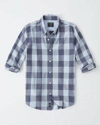 アバクロンビー&フィッチ Abercrombie&Fitch (アバクロンビー&フィッチ) オックスフォードシャツ(長袖)(Buffalo Check Oxford Shirt) メンズ (Blue Check) 新品 日本未発売