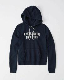 アバクロンビー&フィッチ Abercrombie&Fitch (アバクロンビー&フィッチ)ロゴプルオーバーパーカー (フーディー) (Logo Hoodie) レディース (Navy Blue) 新品