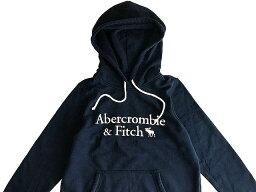 アバクロンビー&フィッチ Abercrombie&Fitch (アバクロンビー&フィッチ) 日本未発売 アップリケ プルオーバーパーカー (フーディー) (Logo Hoodie) レディース (Navy Blue) 新品