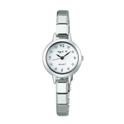 【国内正規品】 アニエスベー ソーラー スワロフスキー agnes b. 時計 腕時計 22mm シルバー×メタルブレスレット FBSD951 レディース アニエス・ベー アニエスb. 【送料無料】