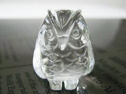 金運 【ポーチ付】ふくろう 置き物 風水水晶 AAAA約25mm×17mm 天然石 パワーストーン 母の日