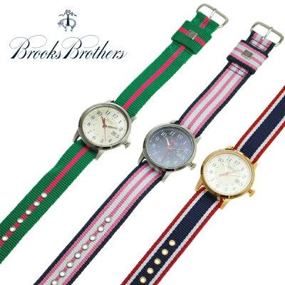 ブルックスブラザーズ 腕時計 BROOKS BROTHERS 全3色 31mm リボンベルトウォッチ ナイロンベルト レディース 取り替え可能 【アメトラ】