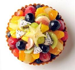 フルーツケーキ ミックスフルーツタルト16cm(5号) バースデーケーキ、誕生日ケーキ用に!【バースデイケーキ】【記念日】【楽ギフ_名入れ】