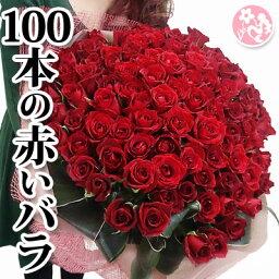 花束 バラ100本の花束 花 高級 赤バラ プロポーズ いい夫婦の日 結婚記念日 花 ギフト 誕生日 プレゼント 女性 送別会 退職祝い 歓送迎会 送別 卒業 ドライフラワーに最適 母