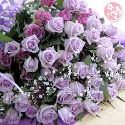 紫 花 パープルローズ バラ 70本の花束 【送料無料】【同梱不可商品】