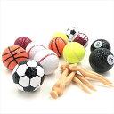 変わり種ティー おもしろ ゴルフボール & セクシー ティー スポーツ ユニーク 景品 6種類 1ダース 12個(6種類 1ダース 12個)