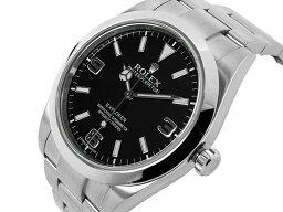エクスプローラー 腕時計(メンズ) ROLEX ロレックス エクスプローラーI 214270 EX-1 ランダム番 OH・磨き済【USED】