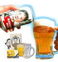 似顔絵ビールジョッキ 【 父の日 】 名入れジョッキ & 似顔絵 缶ビール350ml でBIGサプライズ!