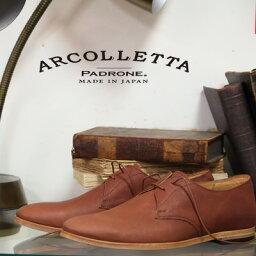 パドローネ ARCOLLETTA by PADRONE BROWN アルコレッタ パドローネ プレーントゥー シューズ メンズ 靴