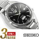 セイコーファイブ 腕時計(メンズ) 【逆輸入 SEIKO5】セイコー5 セイコーファイブ 機械式自動巻き メンズ 腕時計 ブラックダイアル ステンレスベルト SNK623K1
