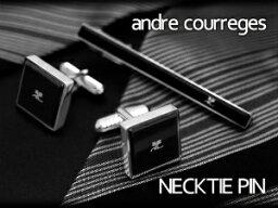クレージュ ネクタイピン 【andre courreges】アンドレ・クレージュ ネクタイピン アクリル ブラック ACT5003 【セットではありません】