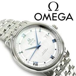 オメガ デ・ビル 腕時計(メンズ) OMEGA オメガ デ・ヴィル プレステージ コーアクシャル 自動巻きクロノメーター メンズ腕時計 シルバーダイアル ステンレスベルト 424.10.40.20.02.001