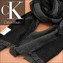 カルバンクライン 【送料無料】Calvin Klein カルバン クライン メンズマフラー ブラック HKC73621-BK