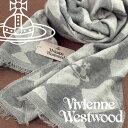 ヴィヴィアンウエストウッド マフラー(レディース) 【送料無料】Vivienne Westwood ヴィヴィアンウエストウッド ヴィヴィアン ストール レディース ハーリキンチェック柄 グレー VV-P205-GREY