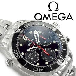 オメガ シーマスター 腕時計(メンズ) OMEGA オメガ シーマスター プロフェッショナル300 コーアクシャル 自動巻き機械式 クロノグラフメンズ腕時計 ブラックダイアル ステンレスベルト 212.30.42.50.01.001