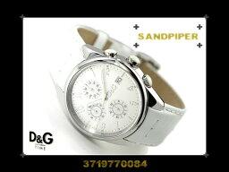 サンドパイパー 腕時計(メンズ) Dolce&Gabbana ドルチェ&ガッバーナ メンズ腕時計 SANDPIPER ホワイトダイアル×ホワイトレザー 3719770084 ネコポス不可【あす楽】
