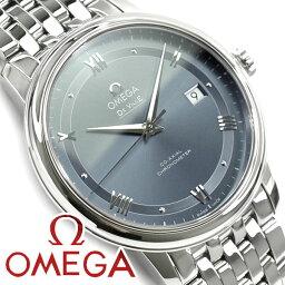 オメガ デ・ビル 腕時計(メンズ) OMEGA オメガ デ・ヴィル プレステージ コーアクシャル 39.5 MM 自動巻きクロノメーター メンズ腕時計 グレーダイアル ステンレスベルト 424.10.40.20.03.002