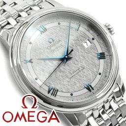 オメガ デ・ビル 腕時計(メンズ) OMEGA オメガ デ・ヴィル プレステージ コーアクシャル 39.5 MM 自動巻きクロノメーター メンズ腕時計 グレーダイアル ステンレスベルト 424.10.40.20.06.002
