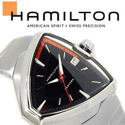 ベンチュラ 腕時計(メンズ) HAMILTON ハミルトン ベンチュラ VENTURA Elvis80 エルビス メンズ 腕時計 三角形 アナログ ステンレススティール ブラック シルバー スイス製 H24551131