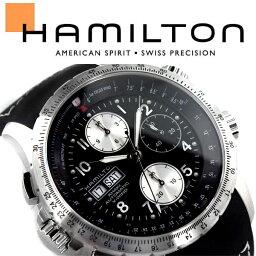 カーキ 腕時計(メンズ) HAMILTON ハミルトン Khaki Aviation カーキ X-Wind Auto Chrono アナログ 腕時計 クロノグラフ 自動巻き メンズ ブラック シルバー H77616333
